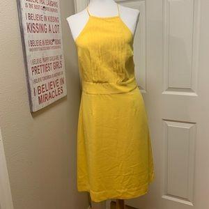 NWT Banana Republic Halter Dress, Yellow. Size 2
